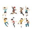 Teenage jumping eps10 format vector image vector image