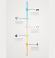 Timeline infographic with business icons