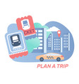 trip flat composition vector image vector image