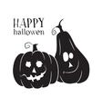 two pumpkins smile halloween symbol