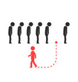unique way for different people or leader vector image vector image