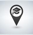 university location icon drop shadow map pointer vector image vector image