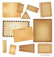 Vintage postcard envelope set vector image vector image