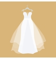Wedding Dress in Flat Design vector image vector image