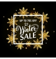 winter sale gold poster vector image vector image