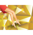 Woman legs vector image