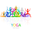 Yoga poses woman silhouette vector image vector image
