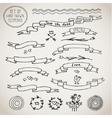 Vintage Elements ribbons vector image