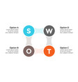 swot analysis square metaball infographic vector image