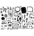 Sketch by hand Set of drawings in ink Symbols vector image
