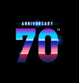 70 years anniversary celebration logotype vector image vector image