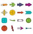 arrow icons doodle set vector image vector image