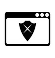 bad browser protection icon vector image vector image