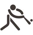 baseballl icon vector image
