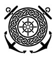 black anchors background helm with circular vector image