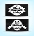 black friday sale monochrome horizontal banners vector image vector image