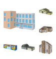 building and home icon vector image