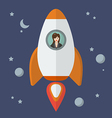 Business woman on a rocket vector image vector image
