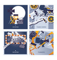 cards set dedicated to filming movie vector image vector image
