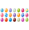 cartoon easter eggs spring holiday chocolate egg vector image