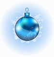 Christmas blue ball with sparkle vector image vector image