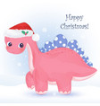 christmas greeting card with cute animals vector image vector image