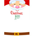 christmas menu layout vector image