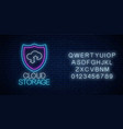 cloud storage service glowing neon sign with vector image vector image
