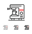 coffee electric home machine bold and thin black vector image