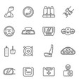 collection car interior details line icon vector image