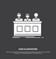 competition contest expert judge jury icon glyph vector image vector image