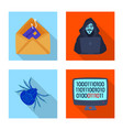 design of virus and secure logo set of vector image