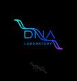 dna laboratory logo helix reproduction clinics vector image