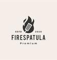 fire spatula hipster vintage logo icon vector image vector image