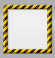 frame with line yellow and black color caution vector image vector image