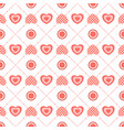 geometric seamless pattern of flat hearts vector image vector image