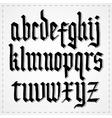 Gothic alphabet font vector image