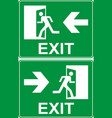 green emergency exit sign vector image