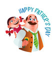 greeting card to happy fathers day dad vector image vector image