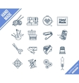 Handmade and sewing outline icons set vector image vector image