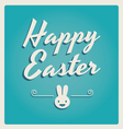 Happy easter cards retro type vector | Price: 1 Credit (USD $1)