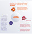 infographic template three option circles banner vector image