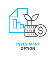 investment option concept outline icon linear vector image vector image