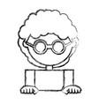 kid faceless cartoon vector image vector image