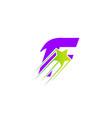 letter f logo alphabet shape abc concept t vector image