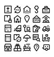 Logistics delivery Colored Icons 3 vector image vector image