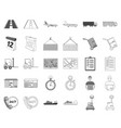 logistics service monochromeoutline icons in set vector image vector image