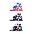 logotype train locomotive flat icon vector image