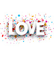 Love paper card vector image vector image