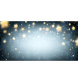 Luminous background with stars vector image